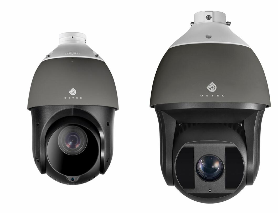 Detec er ute på markedet med nytt kamera (t.v.) fra egen portefølje. Her sammen med den foreløpige toppmodellen (foto: Privat).