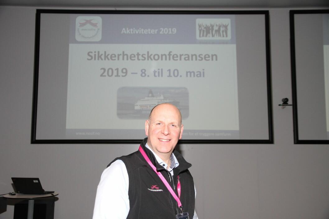 Leder Øyvind Halnes i Nosif har stor tro på at Sikkerhetskonferansen i går får flere deltakere enn rekordantallet i fjor (foto: Even Rise).