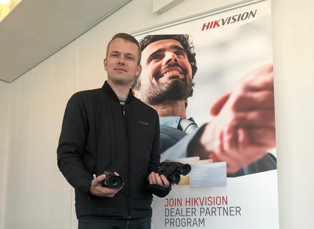 Team manager Nordic Michael Hygild Toxverd i Hikvision Europe har stor tro på deres håndholdte termiske kikkerter (foto: Privat).