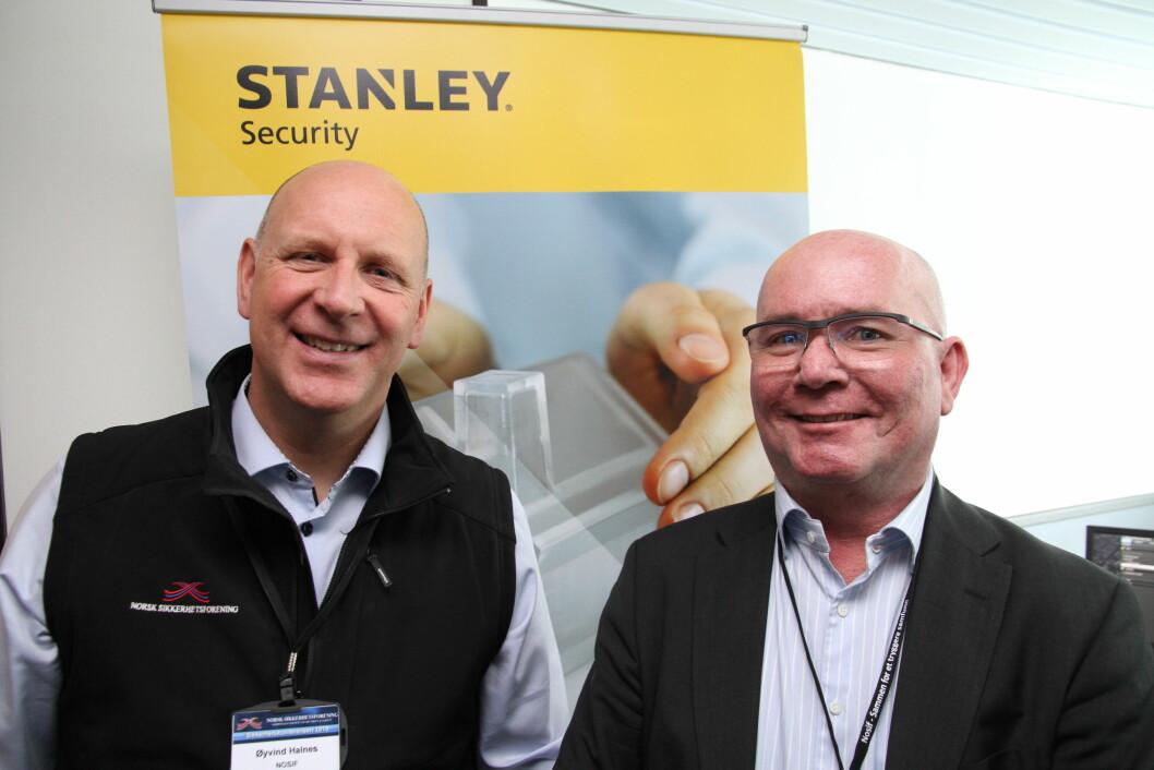 Øyvind Halnes i Stanley Security er glad for å ha fått med Per Bratsberg på laget. Sistnevnte blir leder for bid-teamet i Stanley Security (foto: Even Rise).