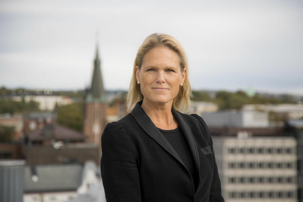 Statsråd Ingvil Smines Tybring-Gjedde er med når NorSIS lanserer datasikkerhetskurs for seniorer i dag (foto: Justis- og beredskapsdepartementet).