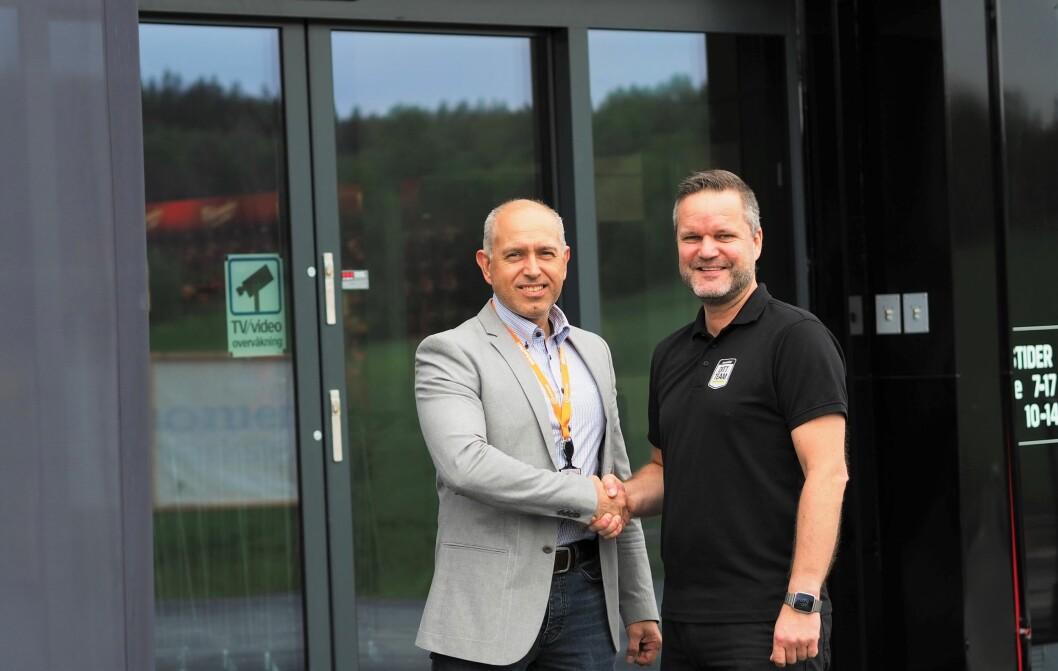 Salgssjef Knut Willy Larsen i Certego ser frem til å samarbeide med Swedol, butikksjef Jon Bronken og alle hans kolleger (foto: Privat).