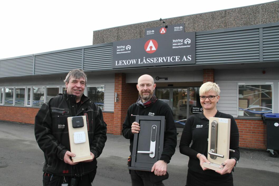 Roger Osufsen, Bjørn Anders Sæter og Janita Winås sa i vår at de gleder seg over utviklingen i Lexow. Nå overtas selskapet av Prosero (arkivfoto: Even Rise).