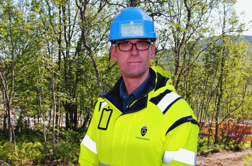 John Ommund Syvertsen er utbyggingssjef Forsvarsbygg ved nye Evenes flystasjon (foto: Forsvarsbygg).