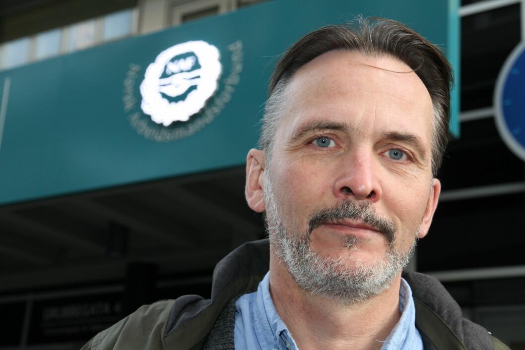 Terje Mikkelsen i NAF hevder at det ikke eksisterer noen dialog med de tillitsvalgte om Color Line-avtalen som Securitas har vunnet (foto: Even Rise).