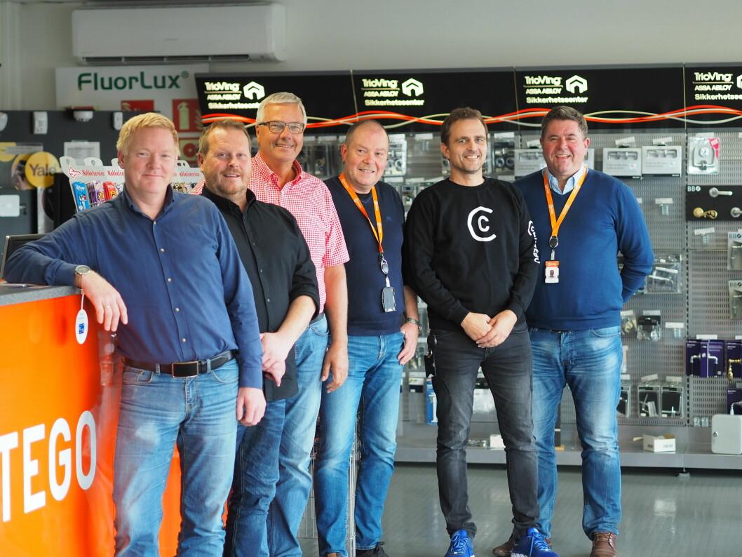 Fra venstre: Atle Magnussen (Fredrikstad Kommune), Jon Edgar Hobekk (Hvaler Kommune), Ivar Larsen (Fredrikstad Kommune),  Frank O. Larsen (Certego), Lars Ivar Vold (Certego), Jan Grimsrud (Certego) (foto: privat).
