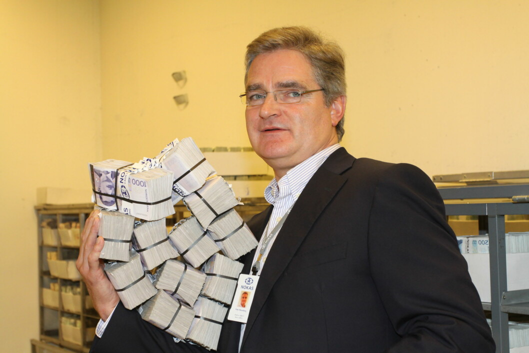 Peter Wesenberg slutter etter 12 år som sjef for Nokas sin kontanthåndtering (arkivfoto: Even Rise).