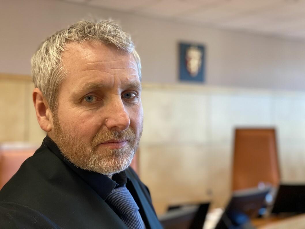 Politiinspektør Ricard Røed konstaterer at Hedmarken tingrett er enig i at mannen i sikkerhetsbransjen fortjener lang fengselsstraff.