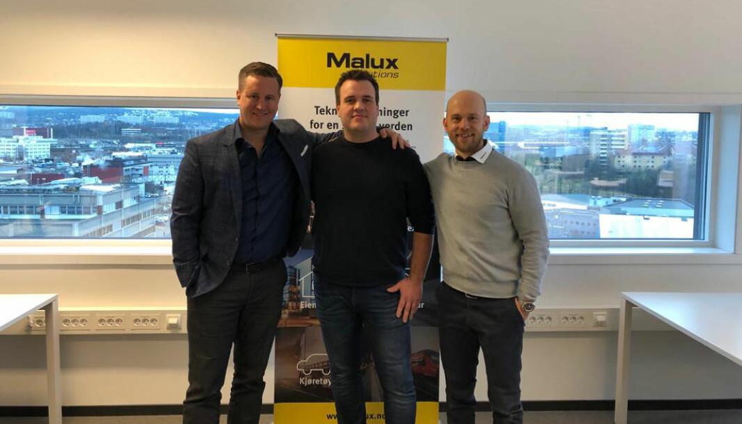 Anders Nygren, Ståle Brastad og Ludvig Vestin gleder seg til å rulle ut produktene fra Malux Solutions i det norske markedet.