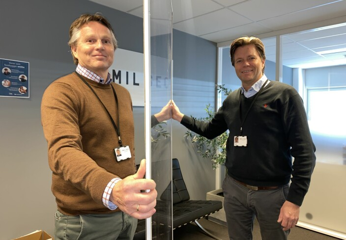 Bjørn Hagen og Per Ove Paulsen kjøpte Mil Sec Norge-boet tilbake og gleder seg nå til å jobbe med Oneco.