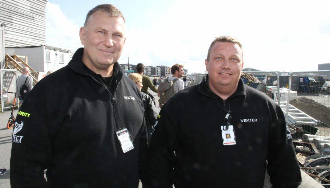 Dick Hansson og Petter Nilsen er lei seg for at markedet forsvant. Nå åpnes det konkurs i Protect Vakthold & Sikkerhet AS.