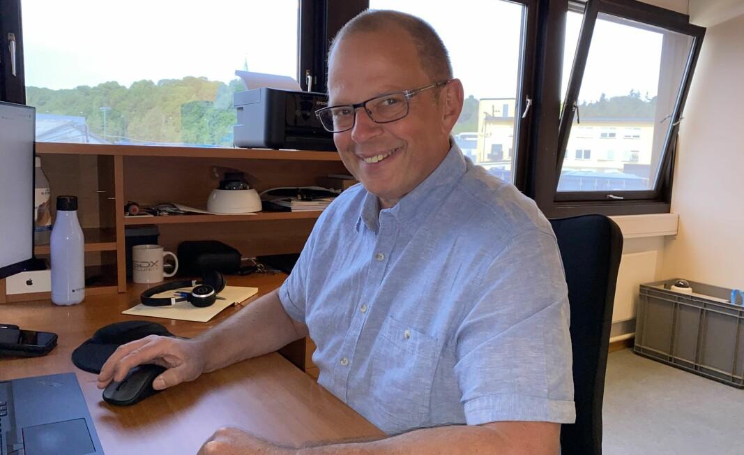Ole Rune Mykjåland er på plass i GDX sitt nye avdelingskontor i Oslo.
