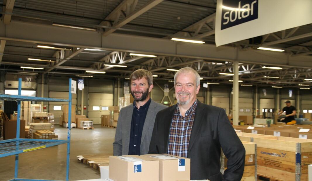 Svein Haakon Land-Hagen og Ole Morten Severinsen har tidligere hatt mye kontakt som henholdsvis selger og kunde. Nå skal de jobbe sammen i Solar. Severinsen skal blant annet drive prosjektoppfølging.