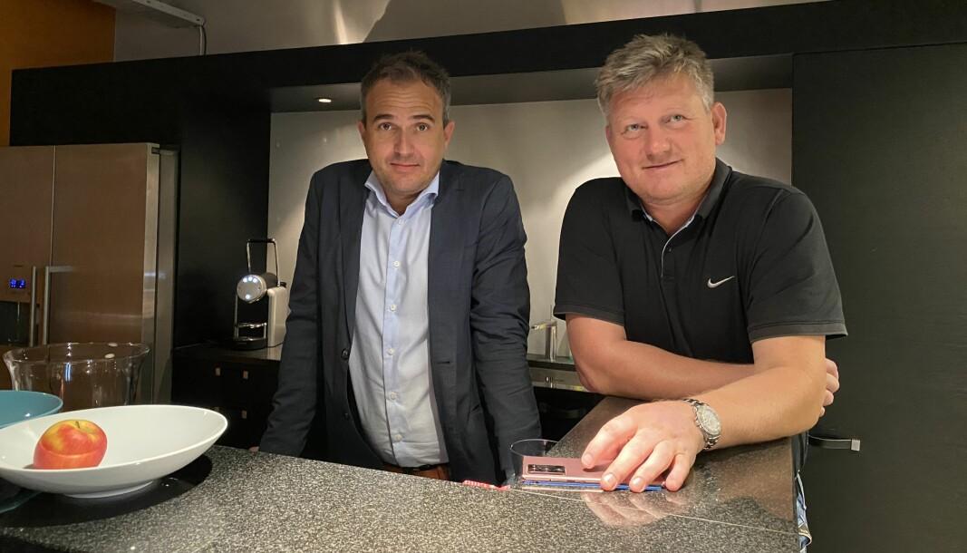 Pål Henrik Kristiansen (t.v.) og Lars Gilleberg (t.h.) etablerer nytt vaktselskap sammen med Dick Hansson og Petter Nilsen. Advokat John Christian Elden er styreleder.