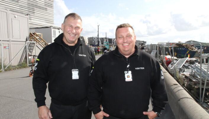 Dick Hansson og Petter Nilsen er med i det nye vaktselskapet. Hansson er daglig leder.