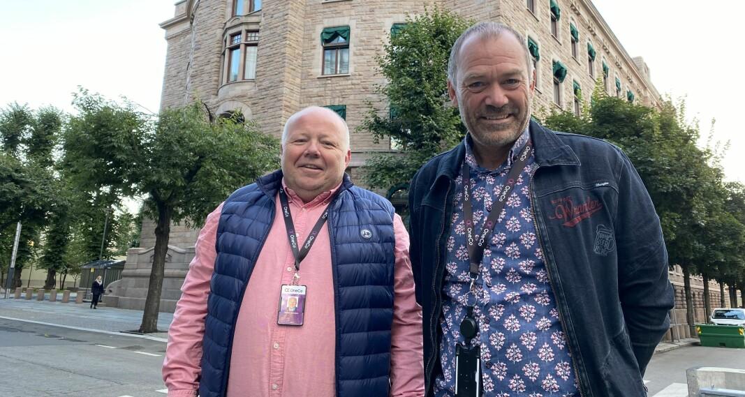 Jahn Gulbrandsen, Stellan Johansen og kollegene har grunn til å være fornøyde etter at Universitetet i Oslo valgte Oneco Technologies som leverandør av teknisk sikkerhet. Dette bildet ble tatt da selskapet nylig inngikk avtale med Departementenes sikkerhets- og serviceorganisasjon (DSS).