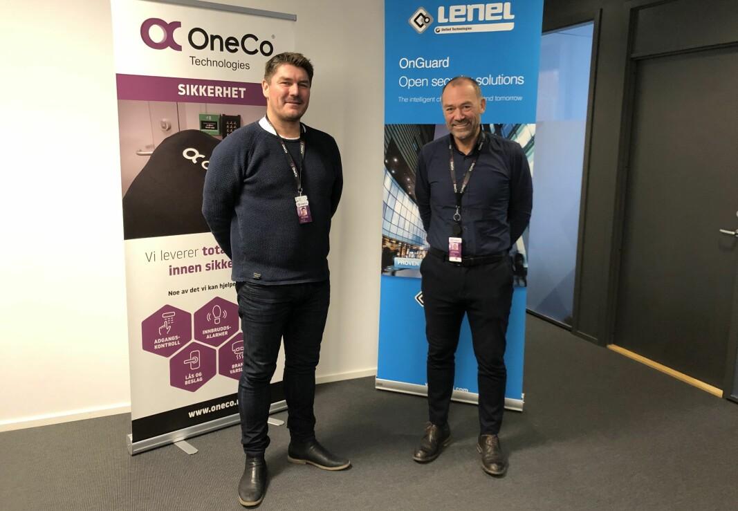 Key account manager Geir Sandengen og salgssjef Jahn Gulbrandsen gleder seg til å starte leveransen til Glitrevannverket IKS.