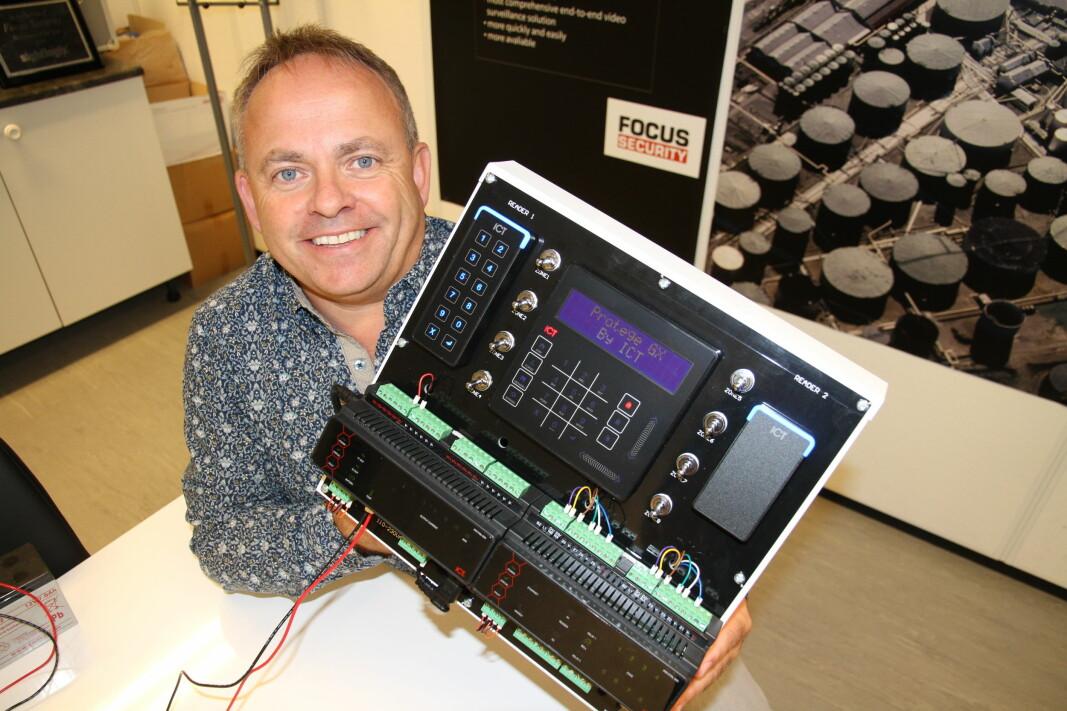 Bjarte Hatlenes i Focus Security gleder seg til å komme på markedet med denne plattformen fra ICT.