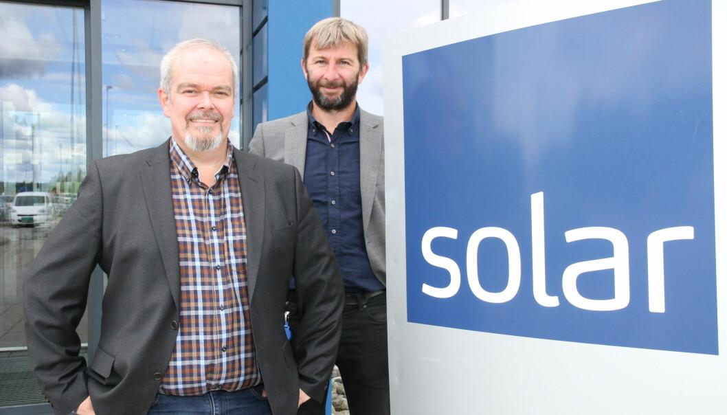 Ole Morten Severinsen og Svein Haakon Land-Hagen i Solar Norge har utvidet -kamera-porteføljen for å stå sterkere i sikkerhetsmarkedet.