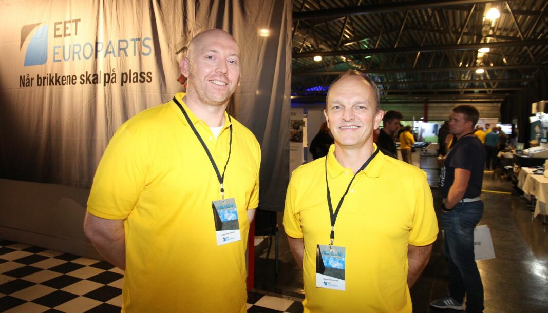 Category manager Svenn-Erik Hareide i EET gleder seg over det nye Honeywell-samarbeidet. Her sammen med salgsdirektør Reidar Stensæter for tre år siden.