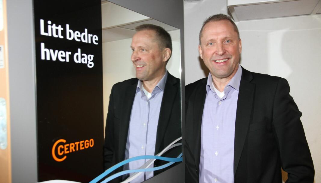 Rolf Gunnar Reisænen i Certego gleder seg over seieren i tre av sju anbudskonkurranser hos Forsvaret.