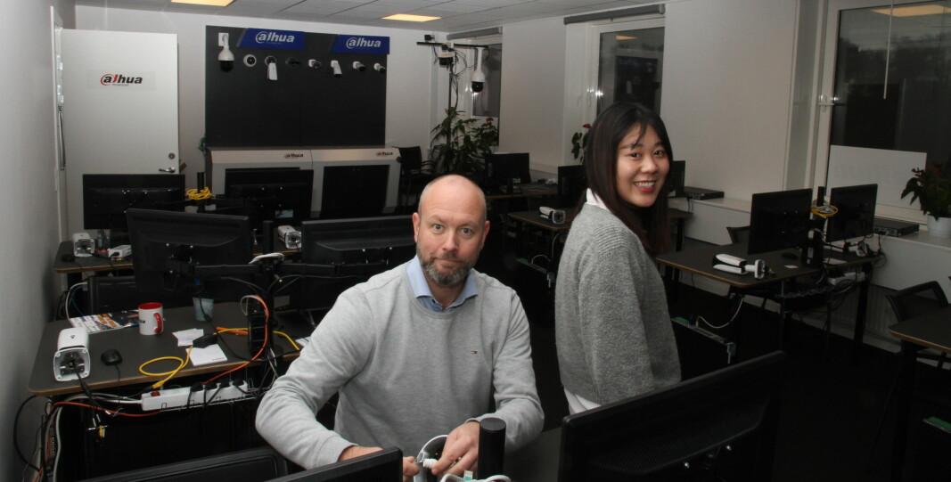 Morten Villadsen og Zoe Yu gledet seg over den store interessen for Dahua-skolen i København da Aktuell Sikkerhet var på besøk for et par år siden. På Dahua-skolen deles teori, praksis og erfaringer.