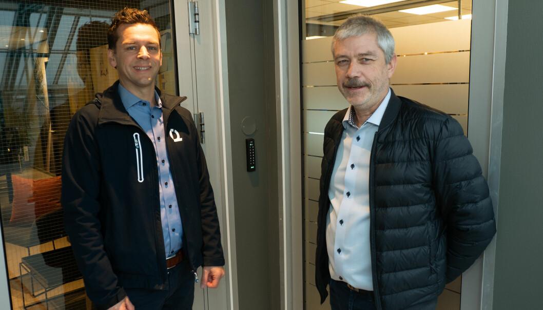 Thomas Sommerfryd (til venstre) og Odd Arild Eike leverte det første systemet i 5-serien til Fomo Works.