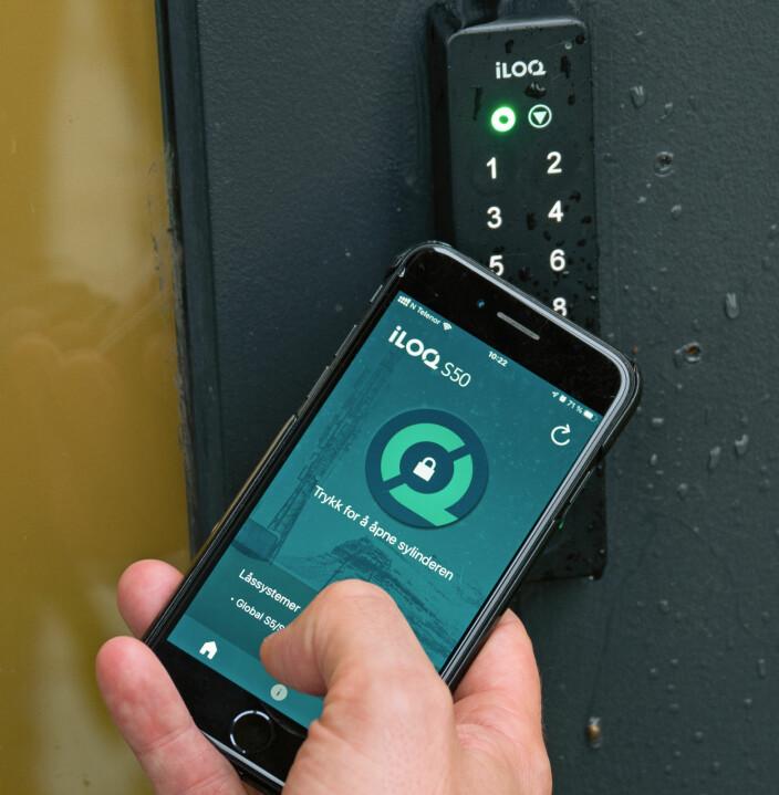 5-serien kan kombineres med mobilopererte låser hvis kunden vil.