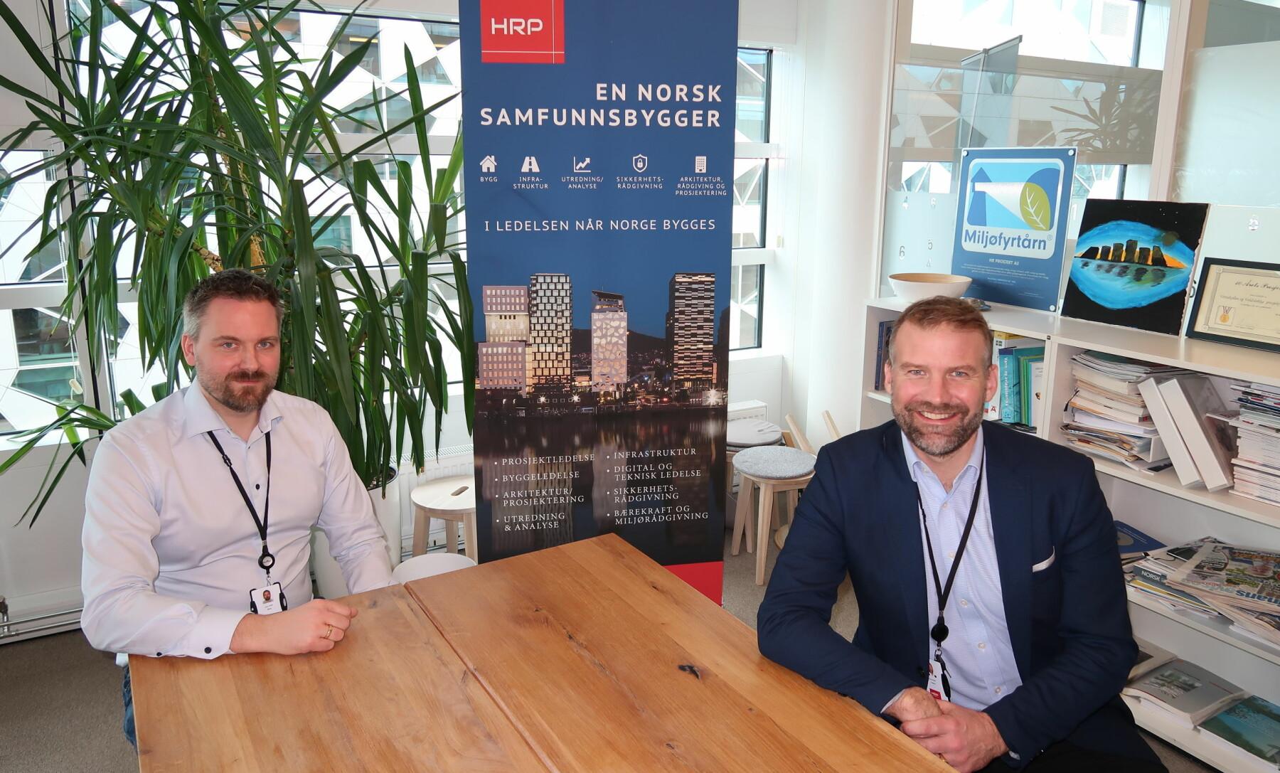 Lars Eirik Berg og Carl-Axel Hagen i HRP ser et stort marked for rådgivning innen etikk og menneskerettigheter i sikkerhetsbransjen.