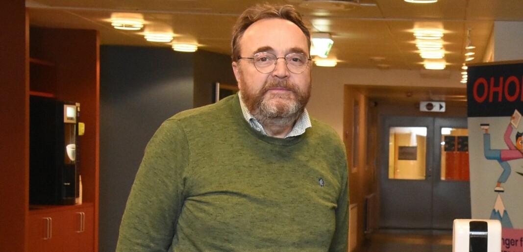 Kommunedirektør Ole Magnus Stensrud fortalte om utfordringene som Østre Toten kommune har hatt etter datainnbruddet tidligere i år .