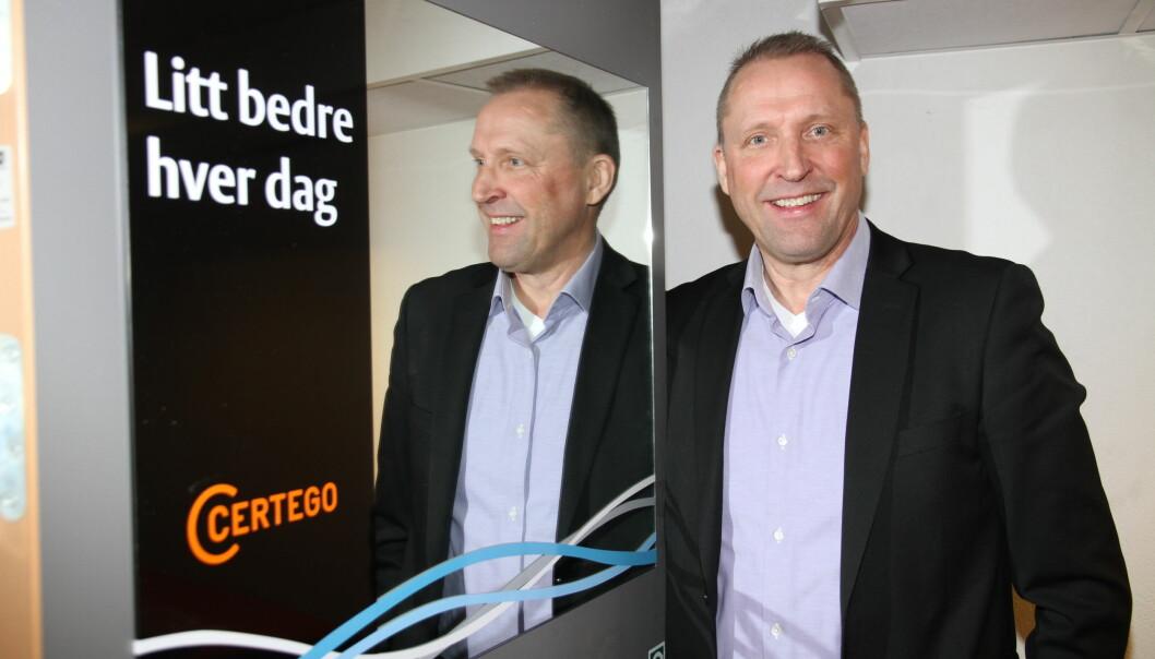 Administrerende direktør Rolf Gunnar Reisænen er strålende fornøyd med å få Nalka Invest som ny eier. Han mener det vil forsterke Certego sin strategi om å være totalleverandør innen sikkerhet.