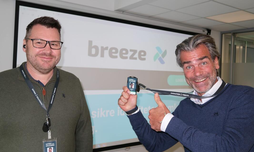 Thomas S. Preus og Jon B. Land, henholdsvis eier og daglig leder i Sotera Solutions, gleder seg over å kunne presentere en helt ny plattform med ny ID-portal i dag.