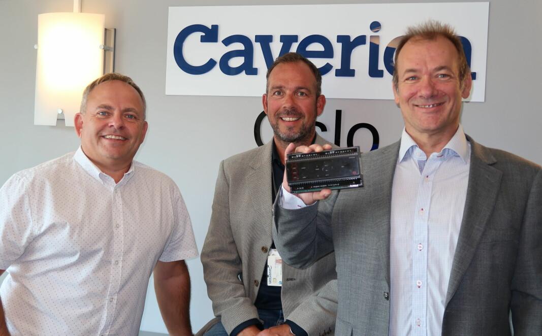 Caverion satser på ICT levert av Bjarte Hatlenes (t.v.) i Focus Security. Forretningsutvikler Ingar Jentoftsen og produktutvikler Ronny Sæther, begge Caverion, gleder seg til samarbeidet.